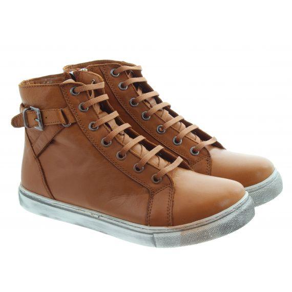 LUNAR Ladies Jemma Lace Ankle Boots In Tan