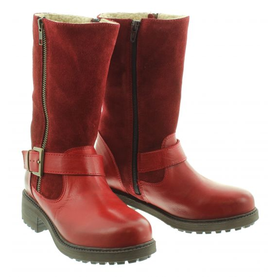 ADESSO Ladies Jess Calf Boot in Red