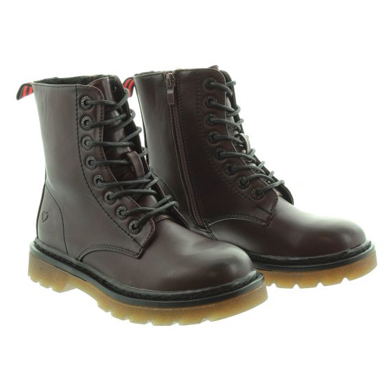 HEAVENLY FEET Ladies Justina Lace Boots in Burgundy