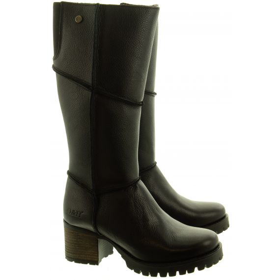 OAK AND HYDE Ladies Kensington Hi Boots In Black