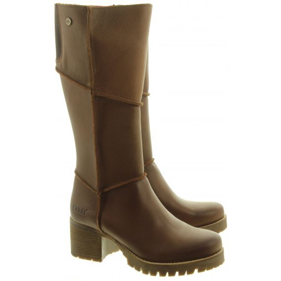 OAK AND HYDE Ladies Kensington Hi Boots In Brown