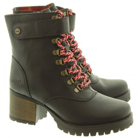 OAK AND HYDE Ladies Kensington Jungle Boots In Black