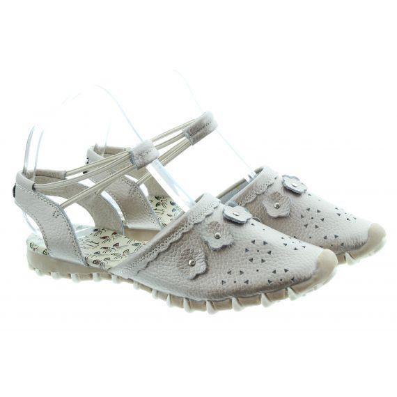 LACEYS Ladies Kit Full Toe Sandals In Platinum