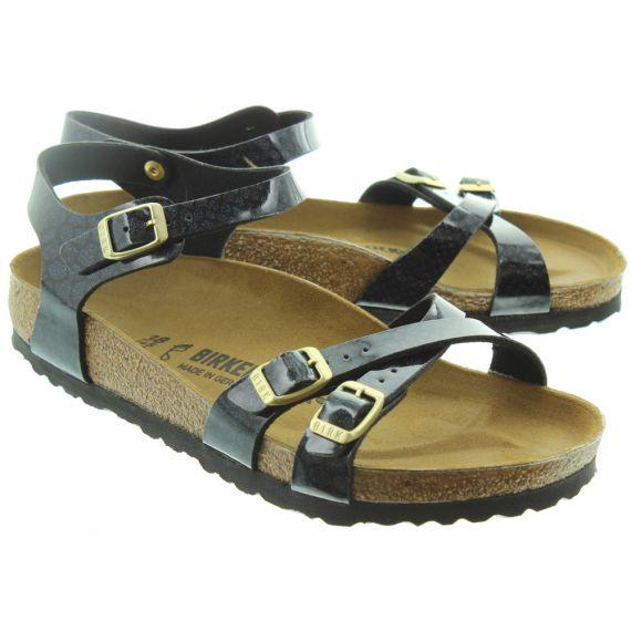 BIRKENSTOCK Ladies Kumba Snake Sandals In Black