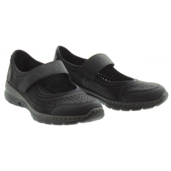 RIEKER Ladies L32B5 Bar Shoe in Black