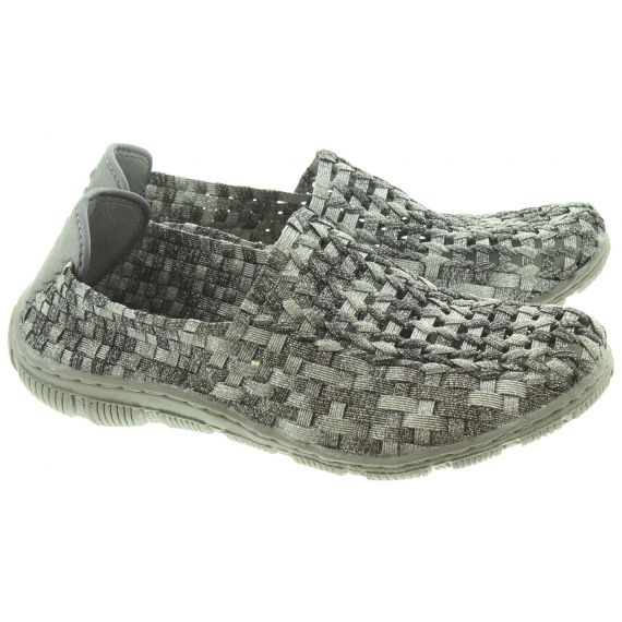 ADESSO Ladies Layla Flat Shoes In Pewter