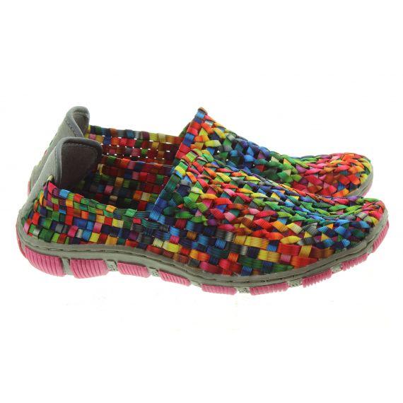 ADESSO Ladies Layla Flat Shoes In Tutti Frutti