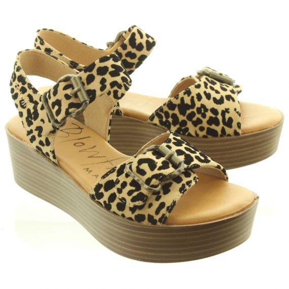 BLOWFISH Ladies Leeds Wedge Sandals In Leopard