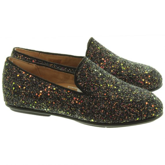 FITFLOP Ladies Lena Glitter Loafers In Black
