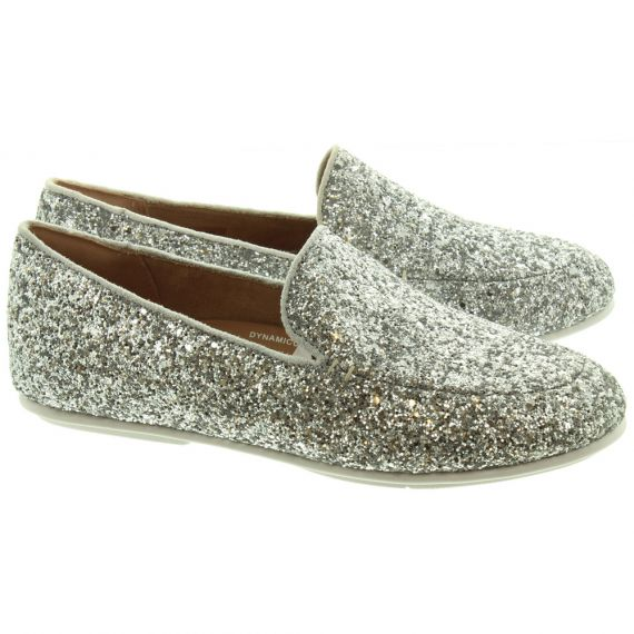 FITFLOP Ladies Lena Glitter Loafers In Silver