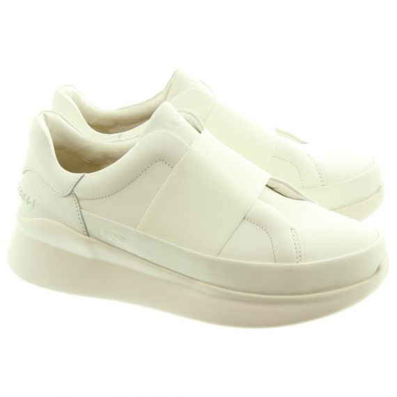 UGG Ladies Libu Slip On Shoes In White