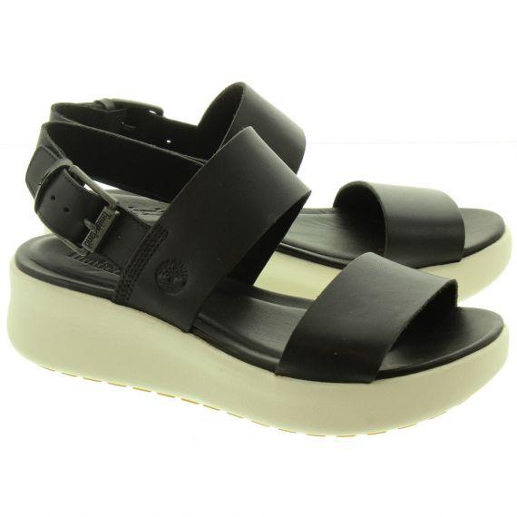 TIMBERLAND Ladies Los Angeles Wind Sandals In Black