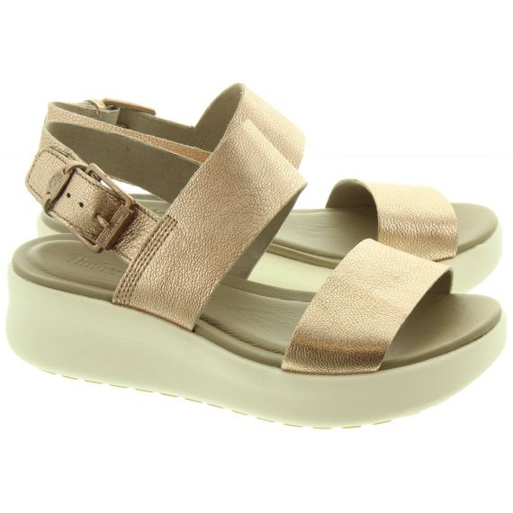 TIMBERLAND Ladies Los Angeles Wind Sandals In Rose Gold