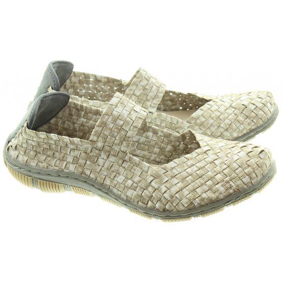 ADESSO Ladies Lottie Weave Bar Shoes In Caramel
