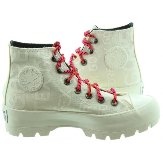 CONVERSE Ladies Lugged Hi Boots In White