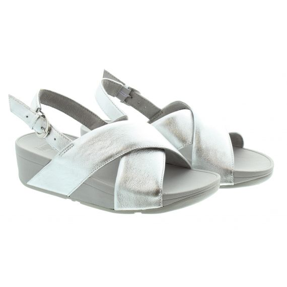 FITFLOP Ladies Lulu Back Strap Sandals In Silver
