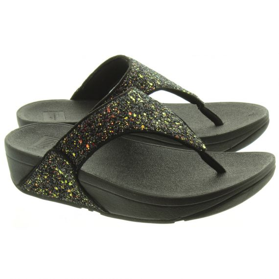 FITFLOP Ladies Lulu Glitter Sandals In Black