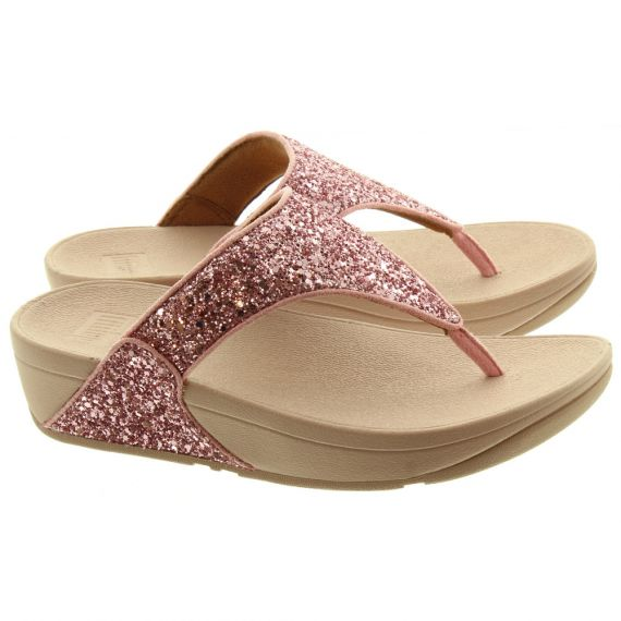 FITFLOP Ladies Lulu Glitter Sandals In Pink