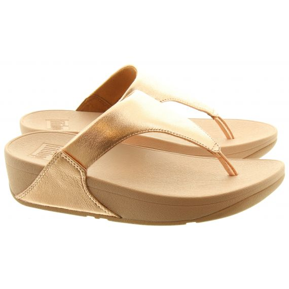 FITFLOP Ladies Lulu Toe Thongs In Rose Gold