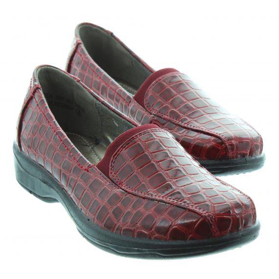 LUNAR Ladies Lunar Nieve Croc Loafer in Red Patent