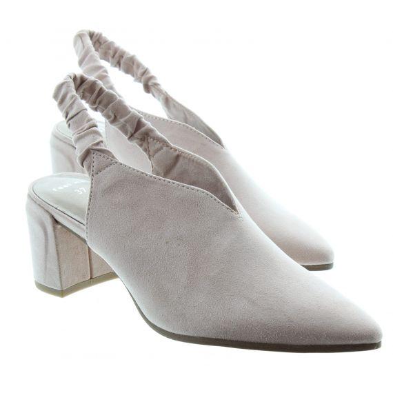 MARCO_TOZZI Ladies Marco Tozzi 29617 Full Toe Sandal in Powder