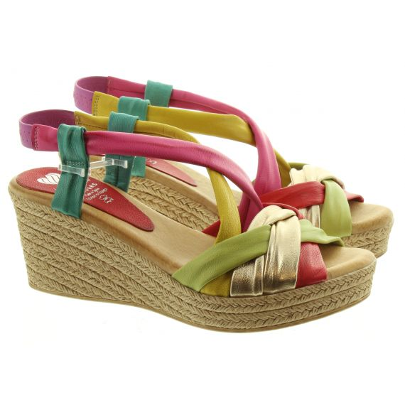 MARILA Ladies Marila 1048 Wedge Sandal in Multi