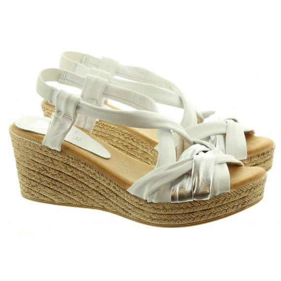 MARILA Ladies Marila 1048 Wedge Sandal in White