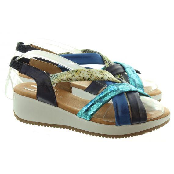 MARILA Ladies Marila 1302 Wedge Sandal in Blue
