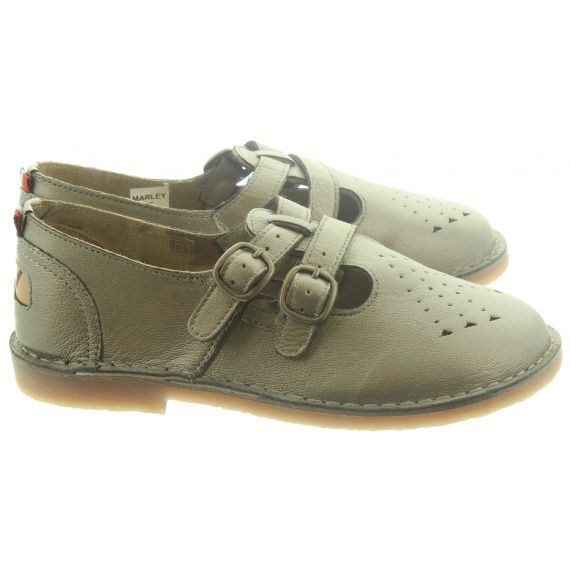 POD Ladies Marley T-Bar Shoes In Pewter