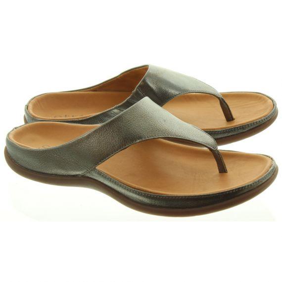 STRIVE Ladies Maui Toe Post Sandal in Pewter