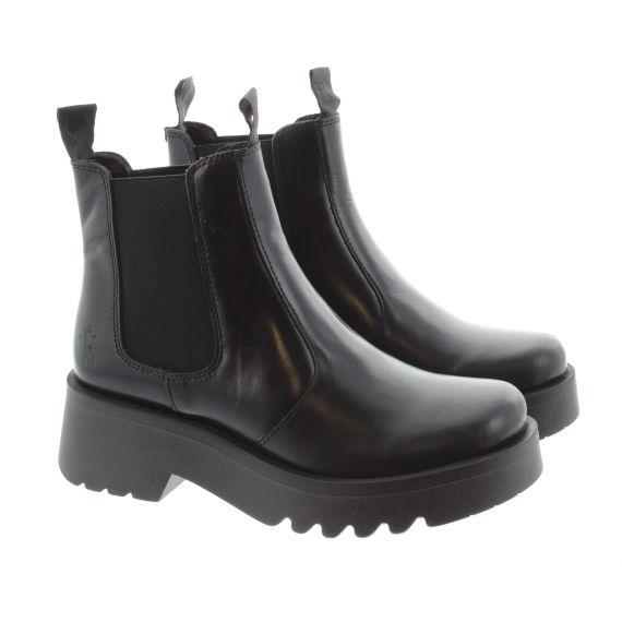 FLY Ladies Medi Chelsea Boots In Black