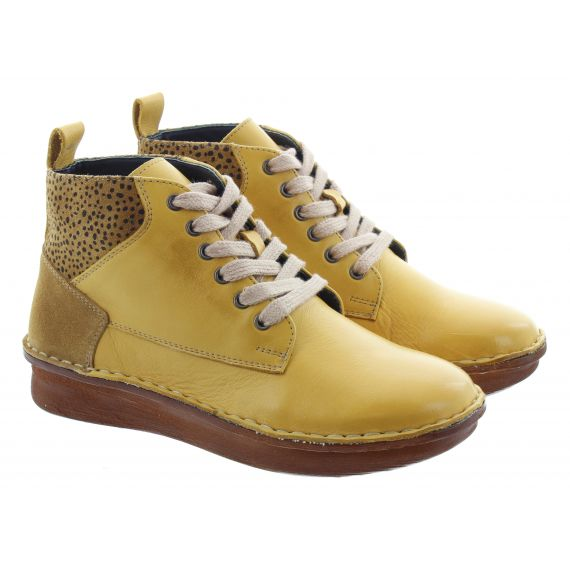 ADESSO Ladies Melanie Lace Ankle Boots In Yellow