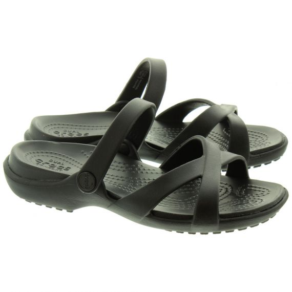 CROCS Ladies Meleen Mules In Black
