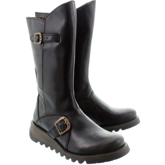 FLY Ladies Mes 2 Calf Boots In Black