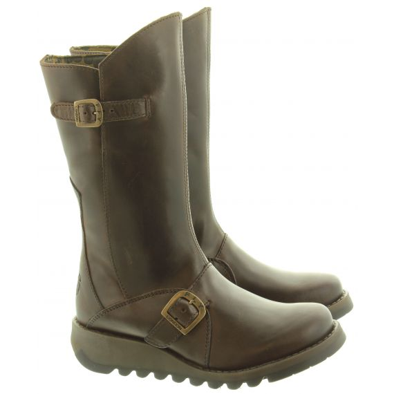 FLY Ladies Mes 2 Calf Boots In Dark Brown