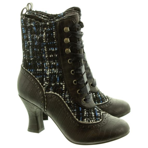 Ladies Minnie Tweed Boots In Black