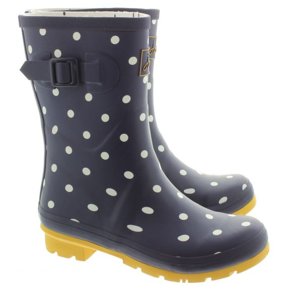 JOULES Ladies Molly Wellies in Navy Spot