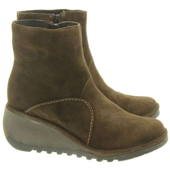 FLY Ladies Nest Wedge Ankle Boots In Brown