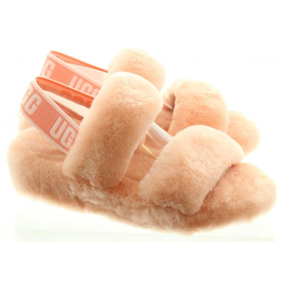 UGG Ladies Oh Yeah Fluff Slides In Pink
