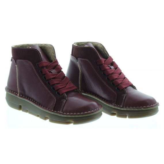 ON_FOOT Ladies On Foot 29004 Touch Ankle Boot in Burgundy
