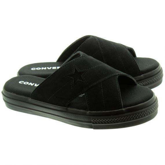 CONVERSE Ladies One Star Sandal Slip On In All Black