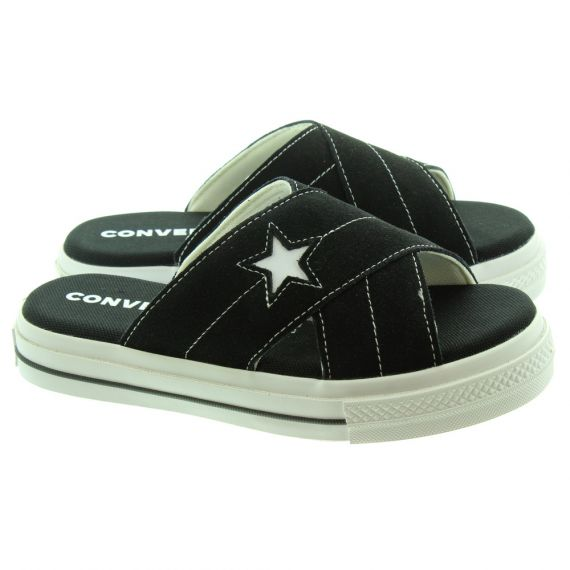 CONVERSE Ladies One Star Sandal Slip On In Black