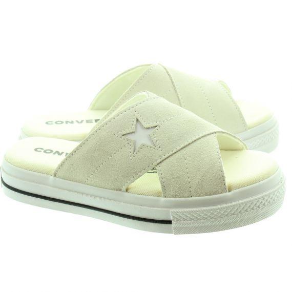 CONVERSE Ladies One Star Sandal Slip On In Bone