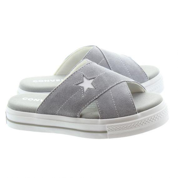 CONVERSE Ladies One Star Sandal Slip On In Grey