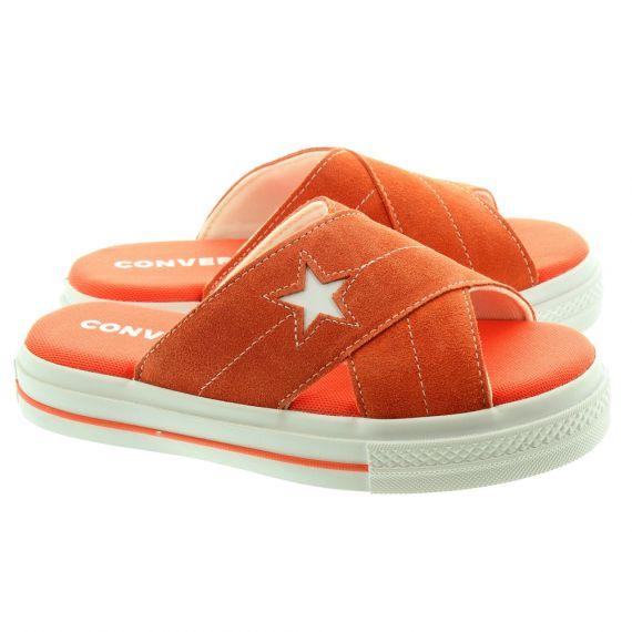 CONVERSE Ladies One Star Sandal Slip On In Orange