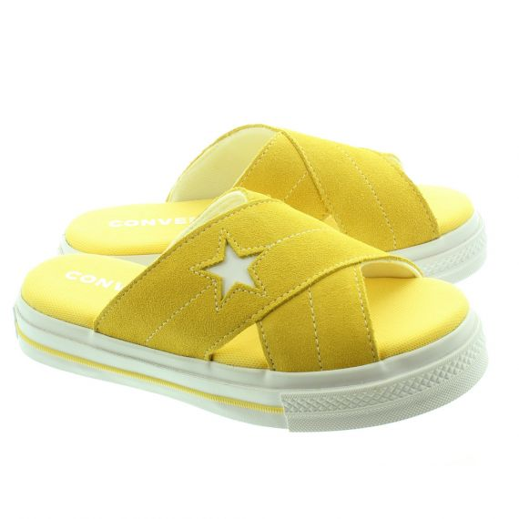 CONVERSE Ladies One Star Sandal Slip On In Yellow