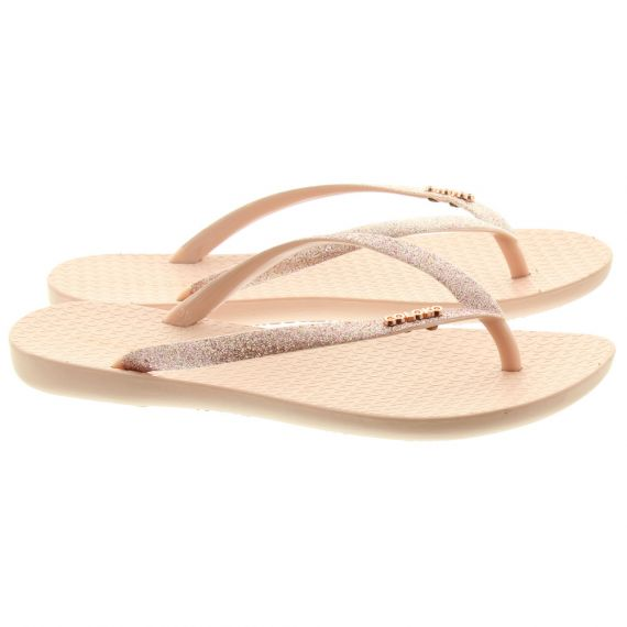 COLOKO Ladies Orchid Toe Post Sandals In Blush