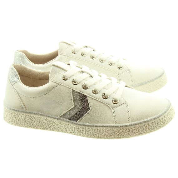 HEAVENLY FEET Ladies Paprika 2 Vegan Trainers In White
