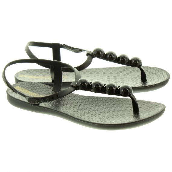 IPANEMA Ladies Pebble Charm Sandals In Black