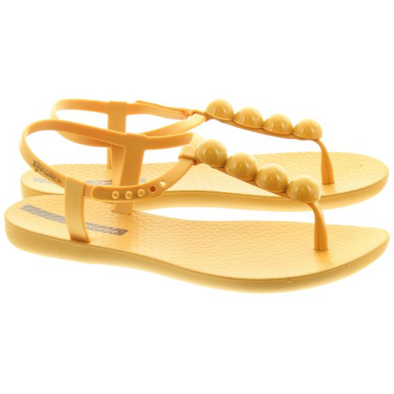 IPANEMA Ladies Pebble Charm Sandals In Mustard